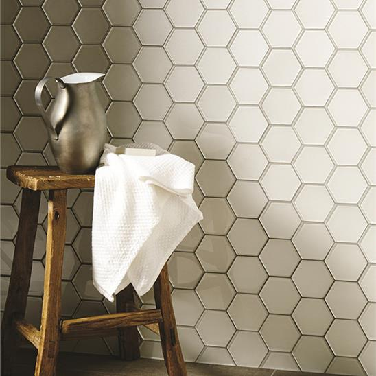 Solinda Metallic Hexagon Mosaics